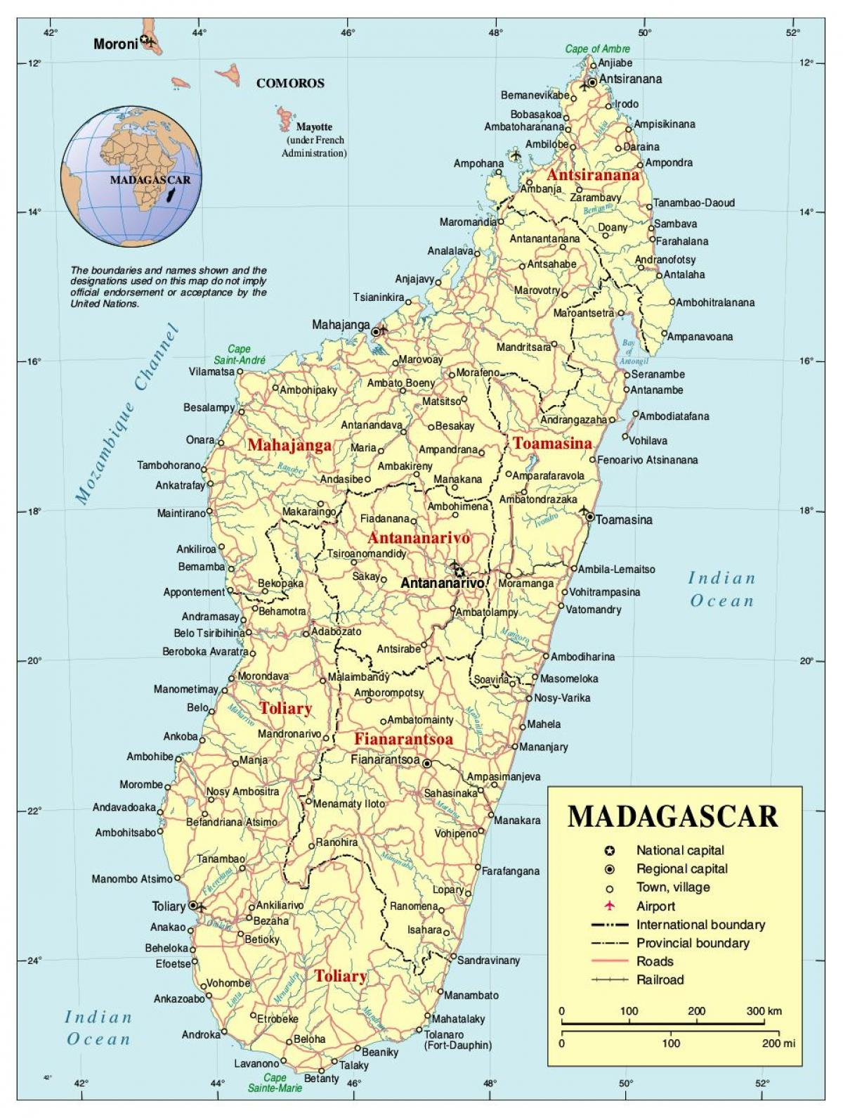 kart over madagaskar Madagaskar road map   Kart over Madagaskar veien (Øst Afrika   Afrika) kart over madagaskar